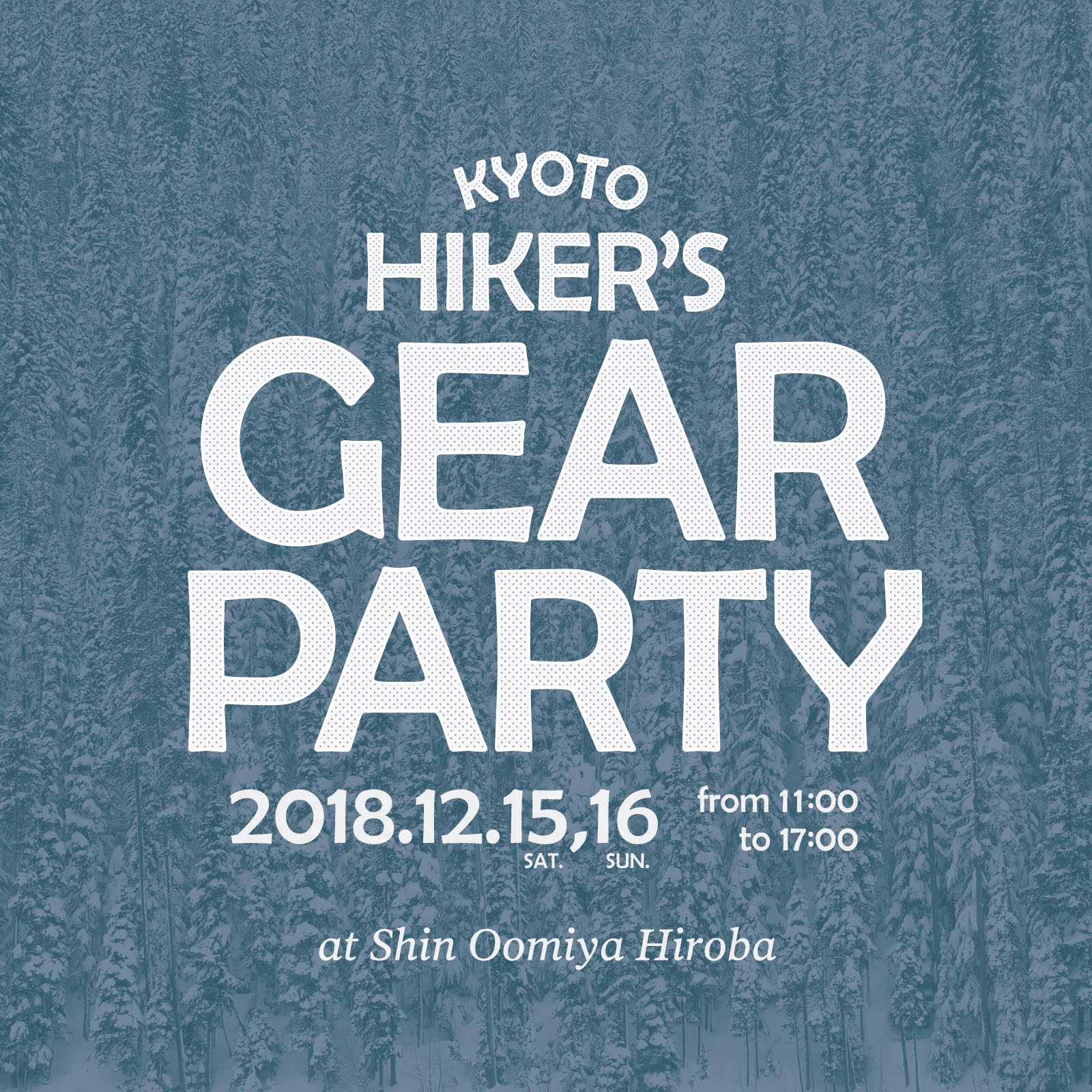 KYOTO HIKER'S GEAR PARTY出展