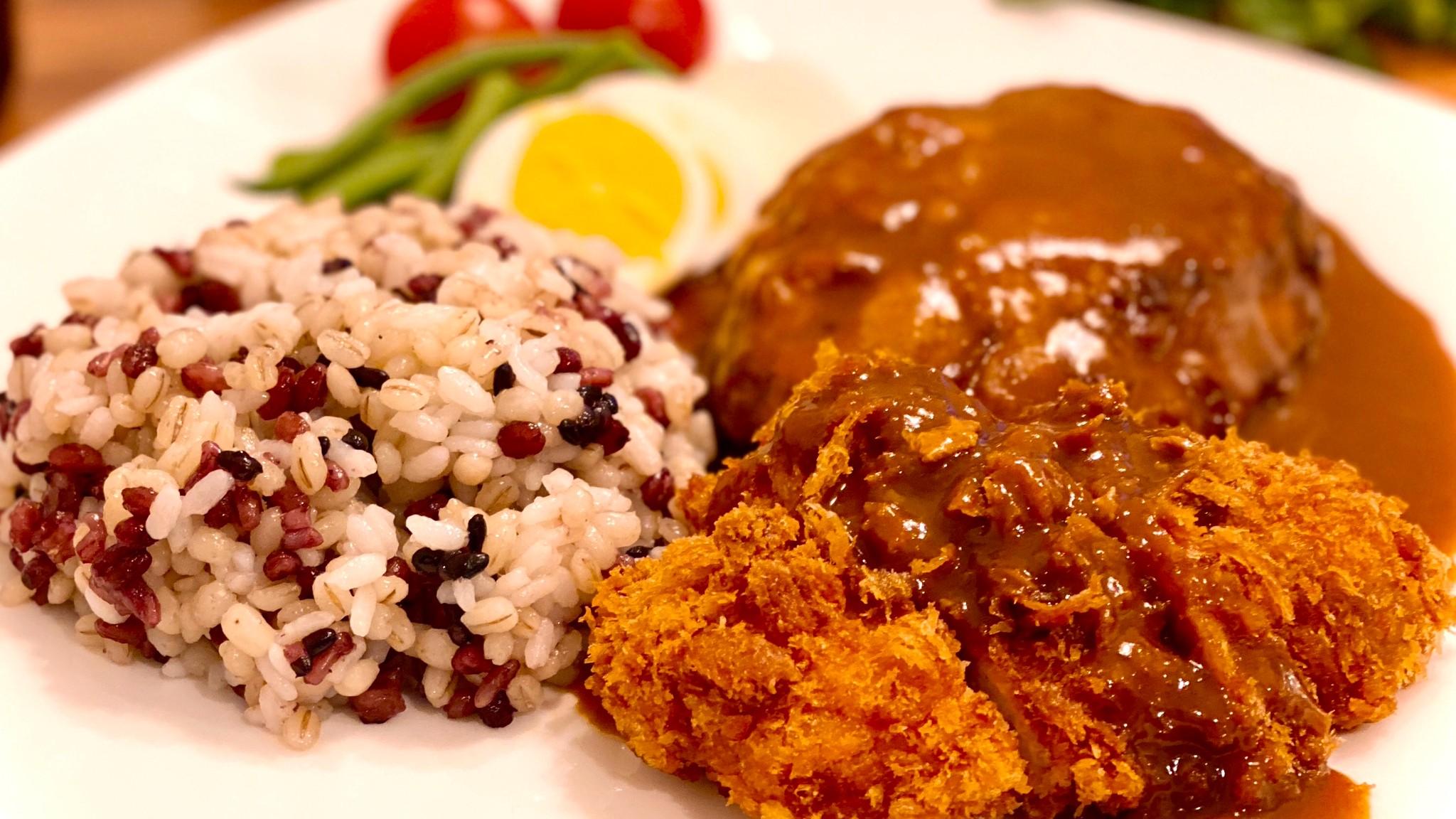 老舗洋食店「フライヤ」さん直伝!「もち麦ごはん」と「黒米・玄米入りもち麦ごはん」の素敵な食べ方