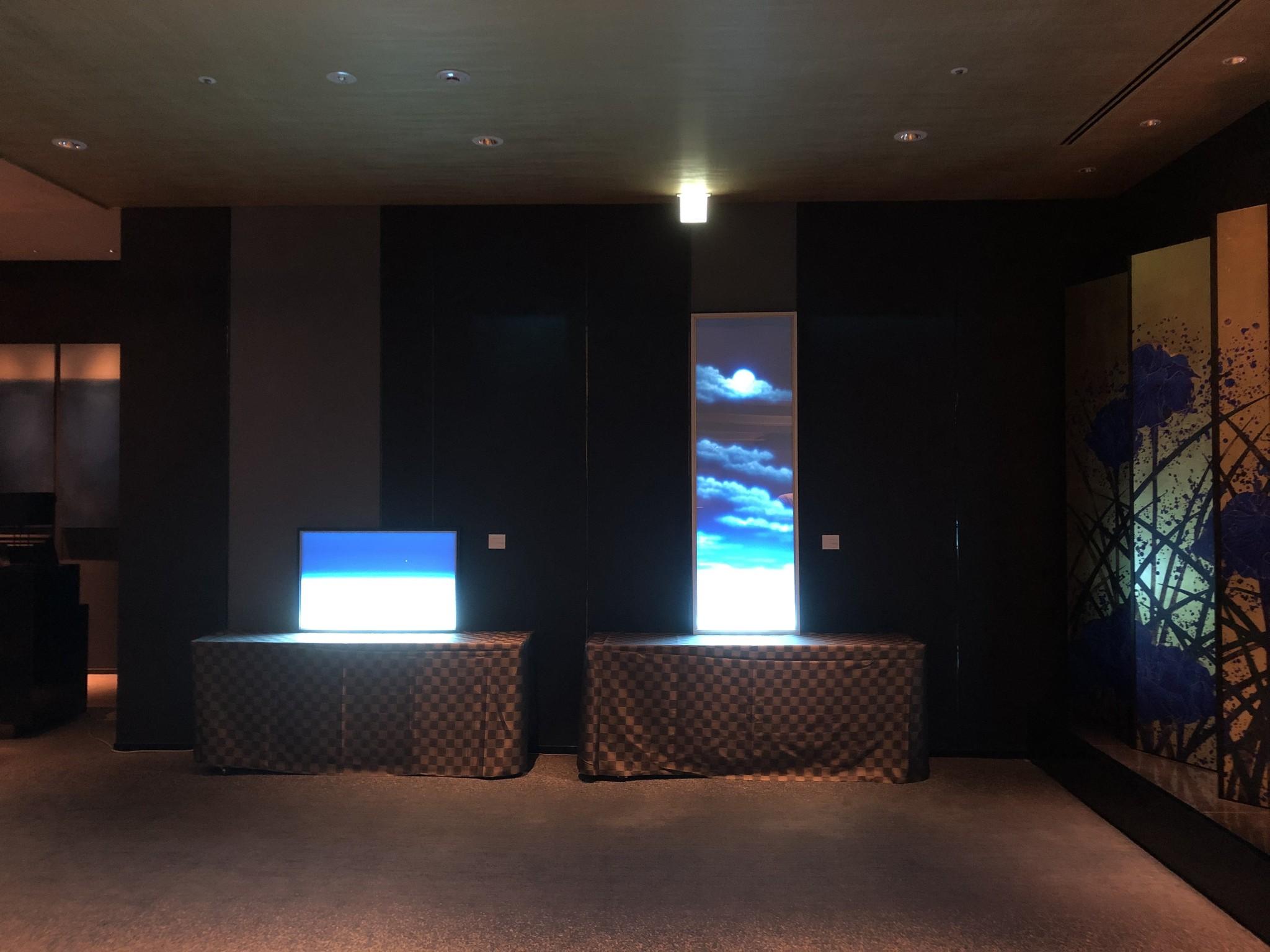 エクシブ湯河原離宮ボールルームホワイエに作品2点展示追加しました。