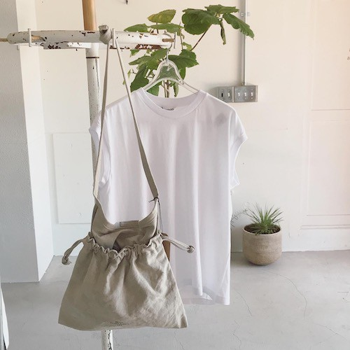 20/80 Linen Canvas Redcross Shoulder Bag & アミアカルヴァ