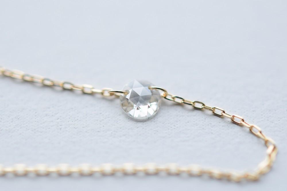新作 「ローズカットダイヤモンドのネックレス  16世紀に愛されていたダイヤモンドカット」