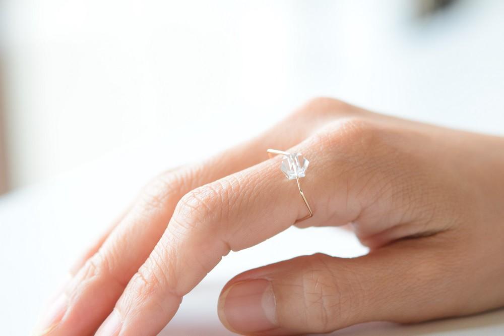 「2018年の終わりに特別なアクセサリーを」 siki(シキ) 七角形と水晶のリング