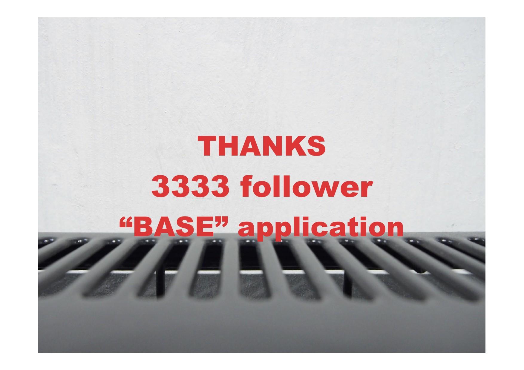 "【information】thanks ""3333"" follower coupon ご用意します。"