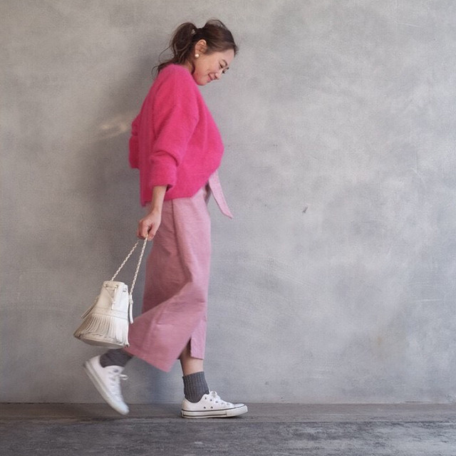 子育て中ママにおすすめ♡楽に動けて、褒められ春スカート