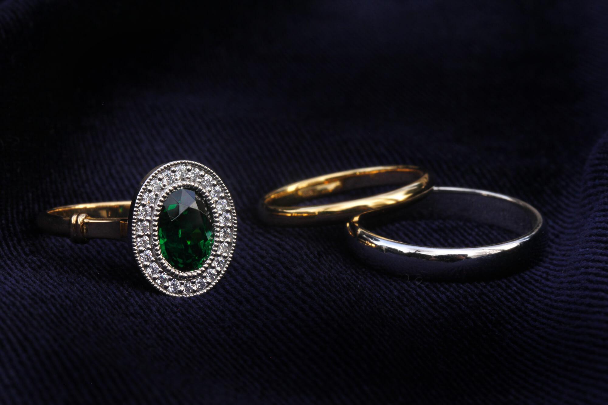 Color stone engage / mariage ring のオーダーについて
