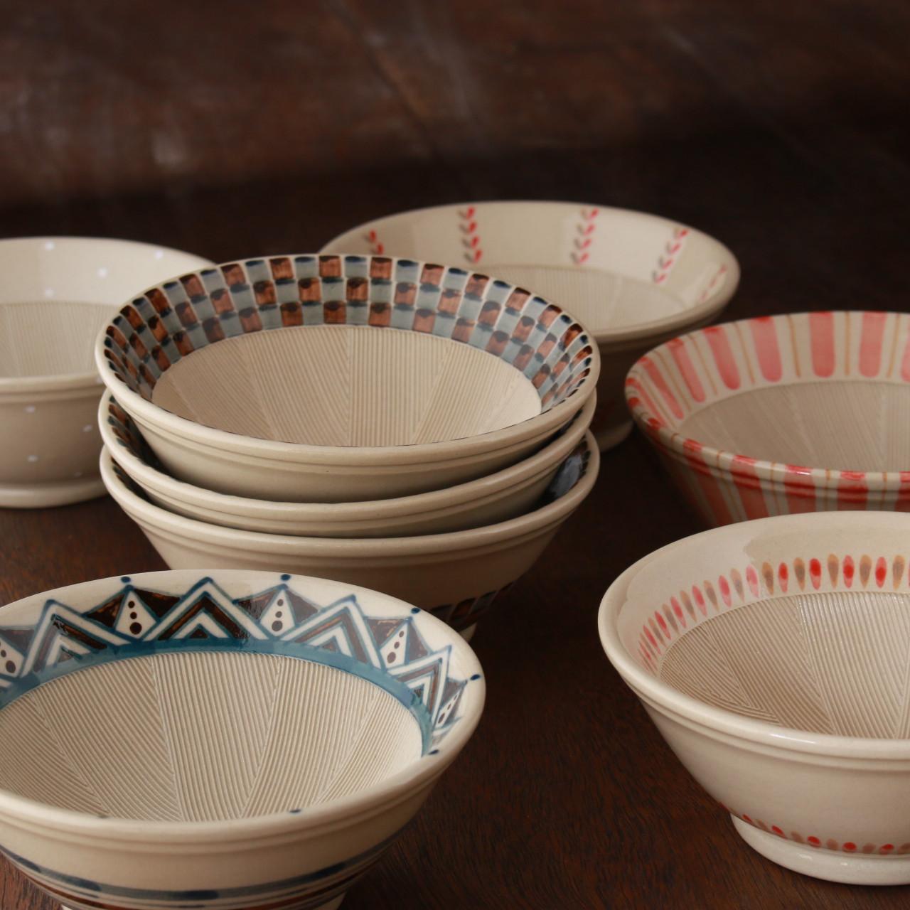 2月の窯からクリーマへ!絵柄入りすり鉢再販も含めアップしました。