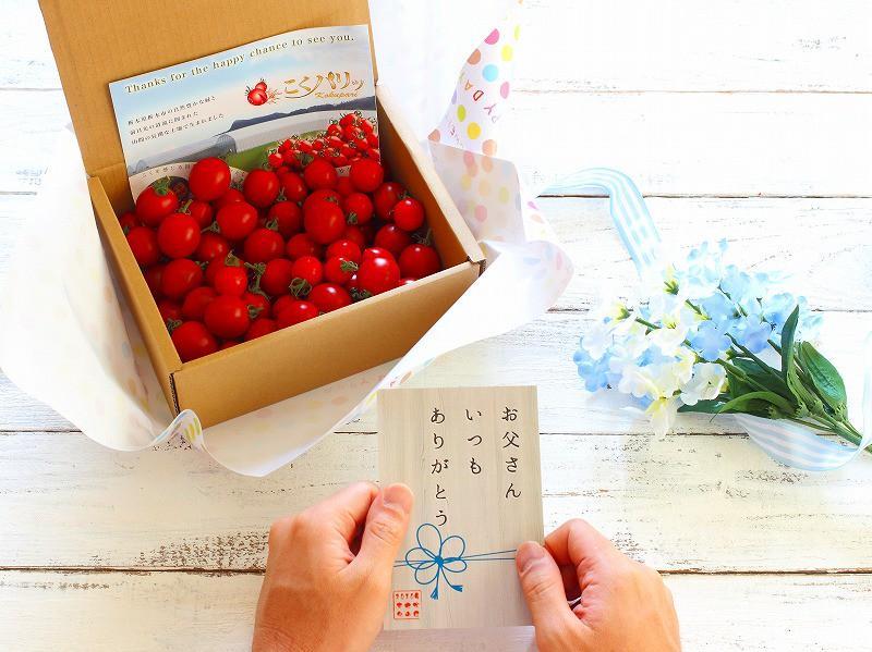 【父の日ギフト】トマトに感謝を込めて/オリジナルポストカードプレゼント