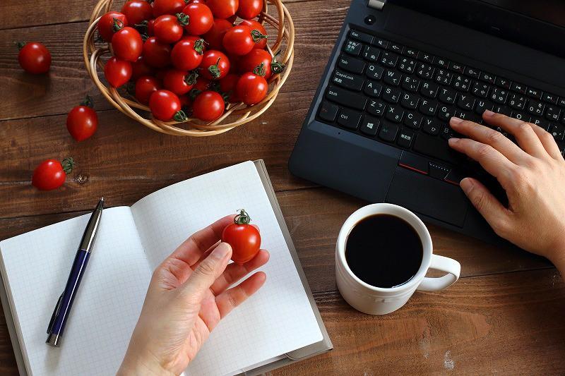 【ミニトマト「こくパリッ」】おうち時間|PCのお供にひと粒どうぞ