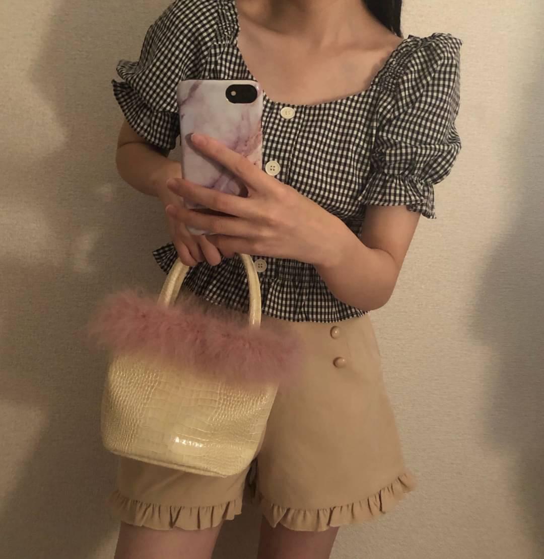 outfit / gingham mini setup