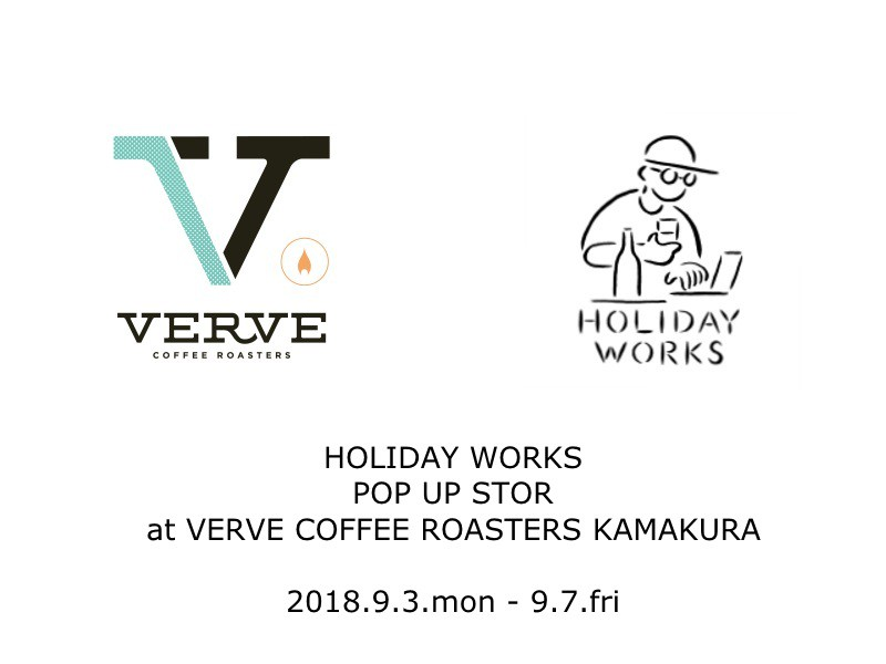 POP UP STORE @ VERVE COFFEE ROASTERS KAMAKURA