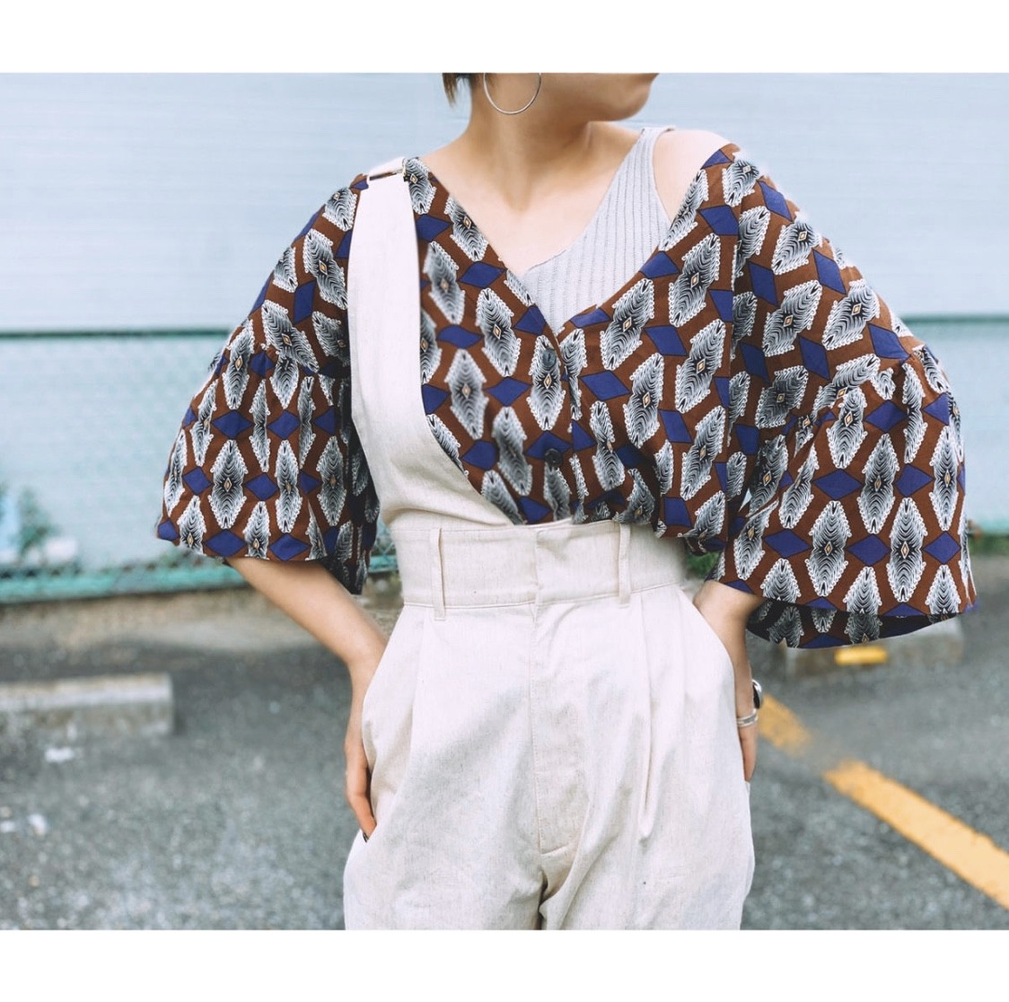 Manic Monday【African Volume Sleeve TOP】
