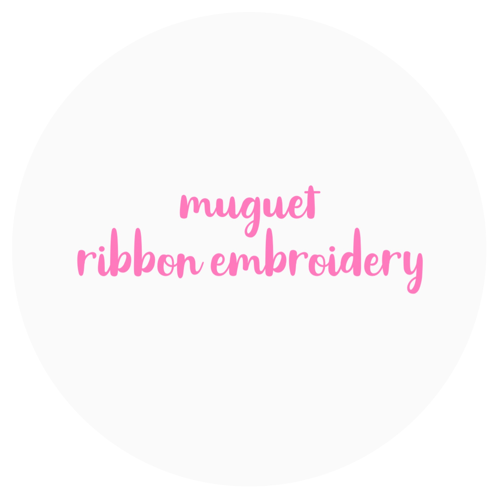 muguet ribbon embroidery