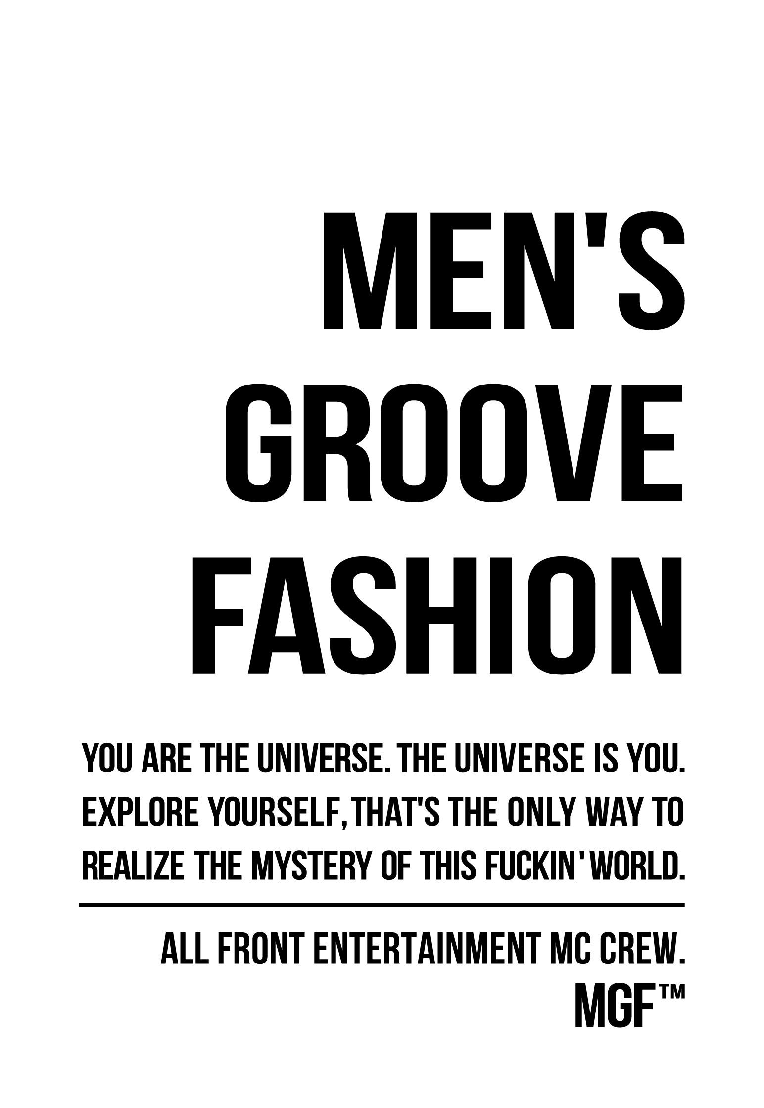MEN'S GROOVE FASHION