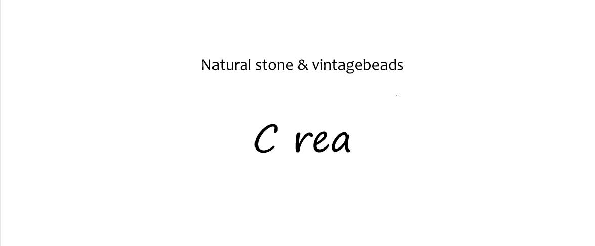 天然石とヴィンテージビーズの    アクセサリー C rea