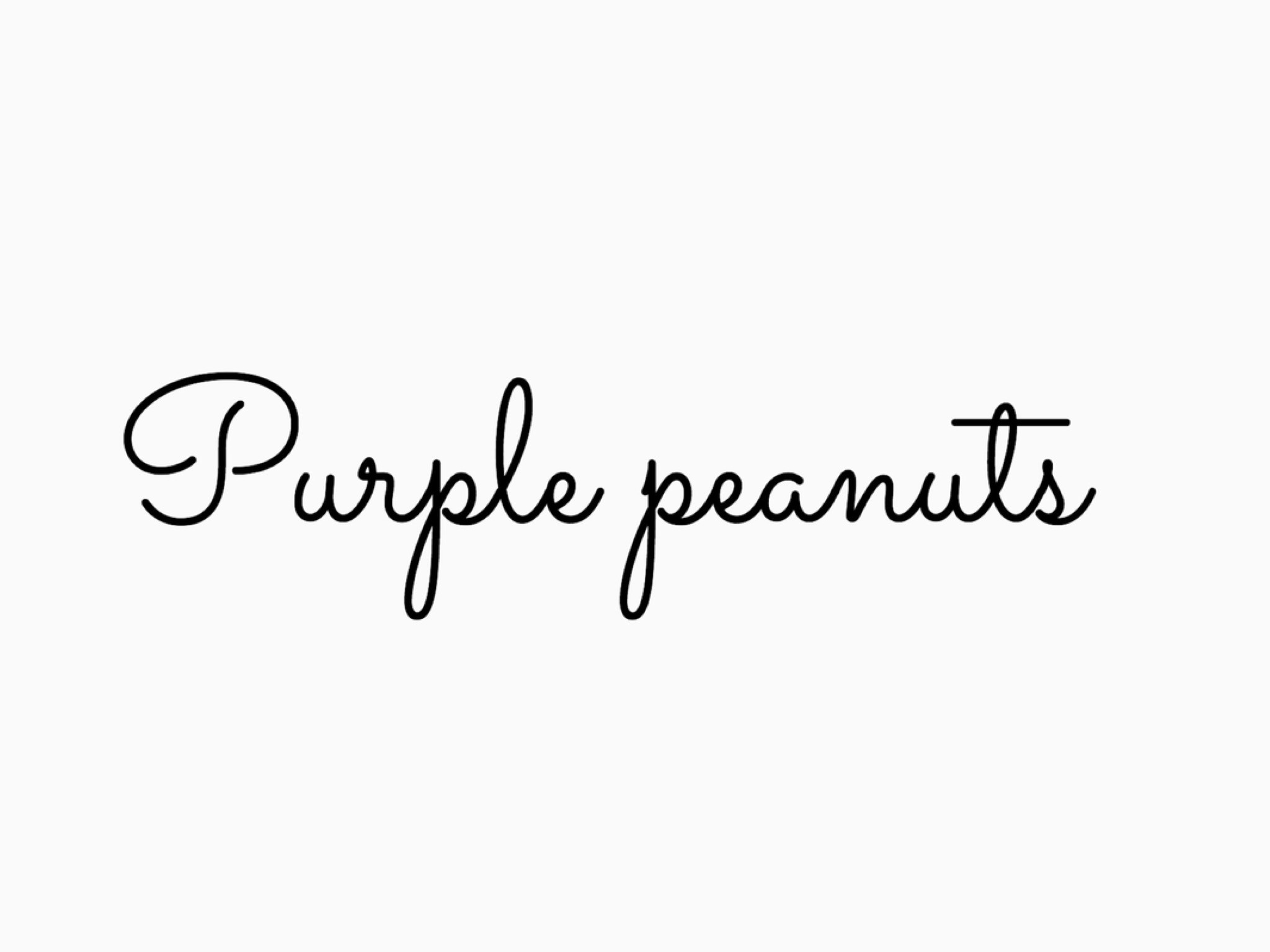 Purple peanuts