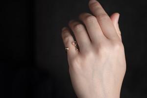 線と円の指輪no1 (gold)