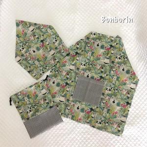 子供エプロン/三角巾/巾着袋セット バッククロスタイプ 120サイズ
