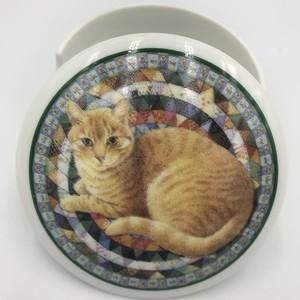 Lesley Anne Ivory 1995年 Ivory cats シュガーポット/小物入れ イギリスヴィンテージ