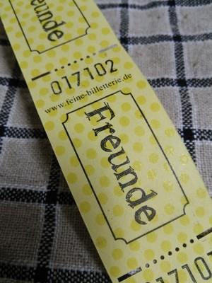 ステーショナリー* 海外のチケット(FREUNDE/お友達)