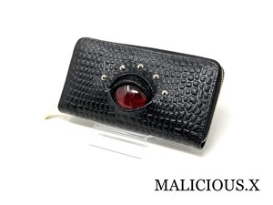 reptiles eye long wallet / magenta red(crocodile)