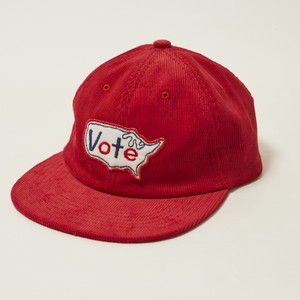 """VOTE USA"" CORDUROY CAP - RED"