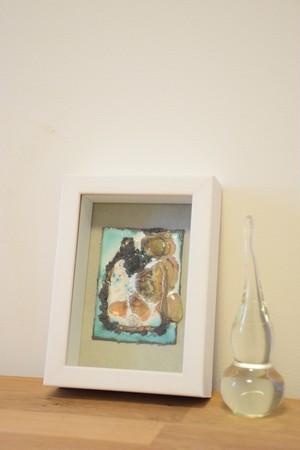 アートな額♪『あふれだす想い♪』ガラス&シルバー&七宝焼き&銅板のコラボレーション♪