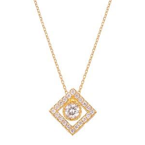 K18YGダイヤモンドネックレス 020201009239
