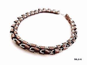 ITALIAN LEATHER NECKLACE -A-