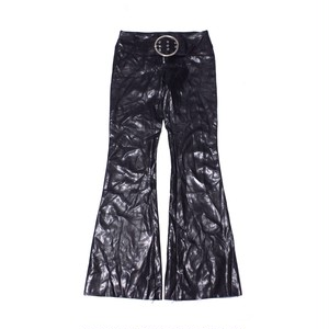 Fake leather pants black