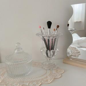 antique style glass vase / ヴィンテージ アンティーク調 ガラス ブラシ ペン立て オブジェ 花瓶 韓国 北欧 雑貨