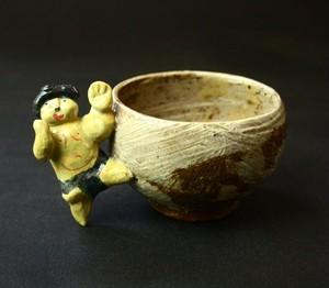 お相撲さんの小さいカップ、cute monster cup. pottery,子供食器