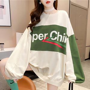 【トップス】ファッション韓国系切り替え配色プルオーバーパーカー35375231