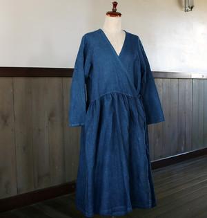 藍染カシュクールワンピース(aw85)