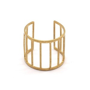 Raw brass Rings -  Ladderリング N0.13