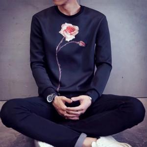 [COOL]薔薇デザイン薄手トレーナー 2カラー