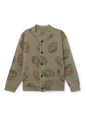 《BOBO CHOSES 2018AW》Happy Sad Buttons Sweatshirt / 2-7Y