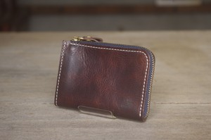 tenohira purse (D.BROWN×NAVY)