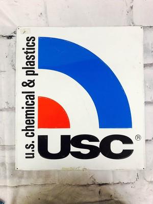 品番6275 ロゴ看板 『u.s. chemical & plastics(USC)』 サインボード アメリカンヴィンテージ