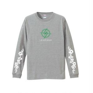 新バンドロゴ/ロングTシャツ <グレー>