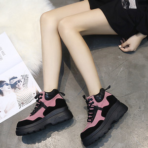 【sneakers】2018 new Korean style casual thick bottom sneakers