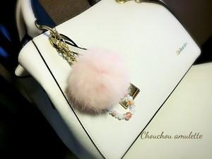 【癒し・やすらぎファーチャーム】8cm(数珠ブレス)