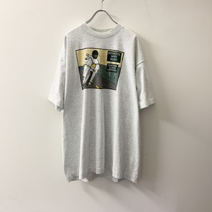 MOTORCYCLE プリント Tシャツ グレー size XL USA製 メンズ 古着