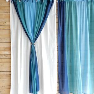 グラーデカーテン 100x180cm ブルー