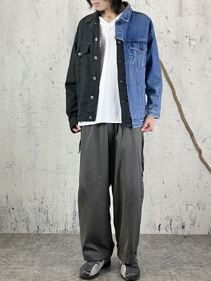 40%OFF switching denim jacket ①【sample sale】
