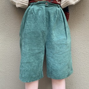 (LOOK) suède half pants