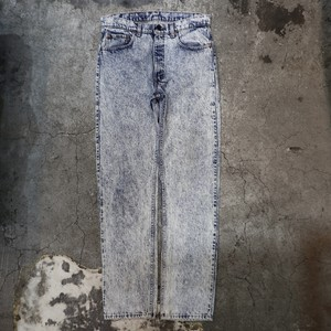 "90's Levi's chemical wash denim pants ""505"""