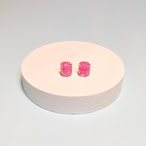 meary 宝石チック ピアス/neon pink