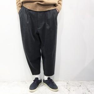 my beautiful landlet 【マイビューティフルランドレット】Wool Flannel wide  tapered pants
