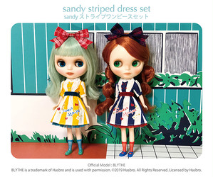 Dear Darling fashion for dolls sandyコラボレーション sweet stripeワンピースセット
