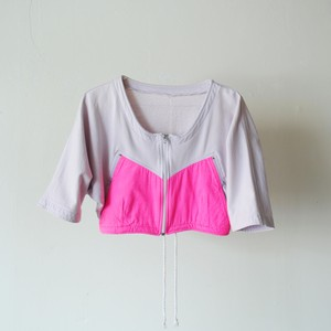 Vintage 90s design cropped zip top